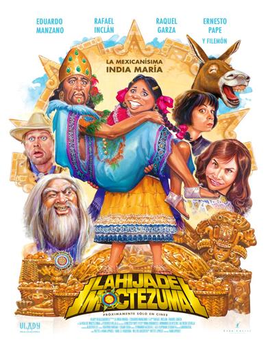 Poster de La hija de Moctezuma