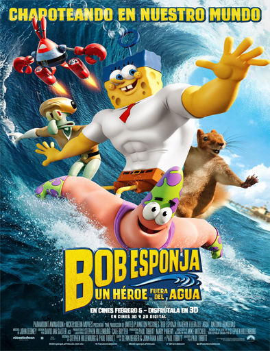 Poster de Bob Esponja: Un héroe fuera del agua