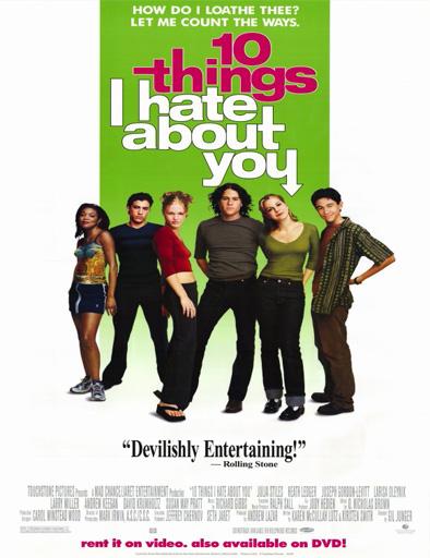 Poster de 10 cosas que odio de ti