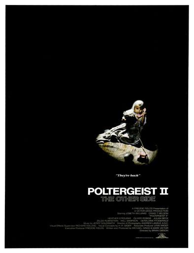 Poster de Poltergeist II: El otro lado