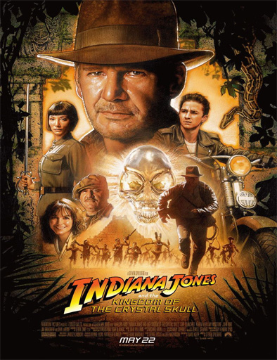 Poster de Indiana Jones y el reino de la calavera de cristal