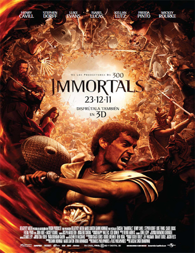Poster de Immortals (Inmortales)