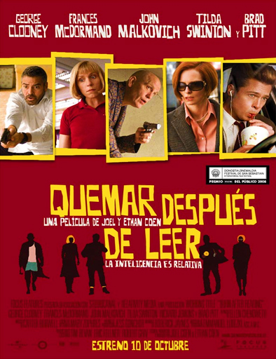 Poster de Burn After Reading (Quémese después de leerse)