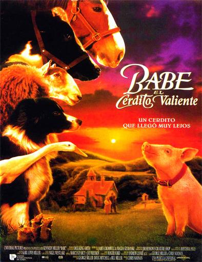 Poster de Babe, el puerquito valiente