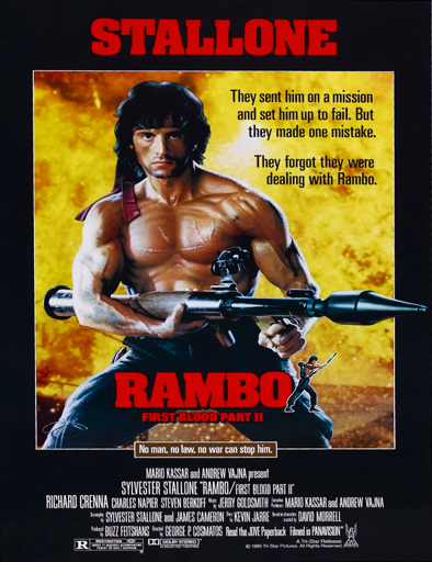 Poster de Rambo 2: First Blood Part 2