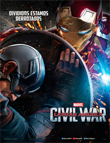 Poster new de Captain America: Civil War (Capitán América: Guerra civil)
