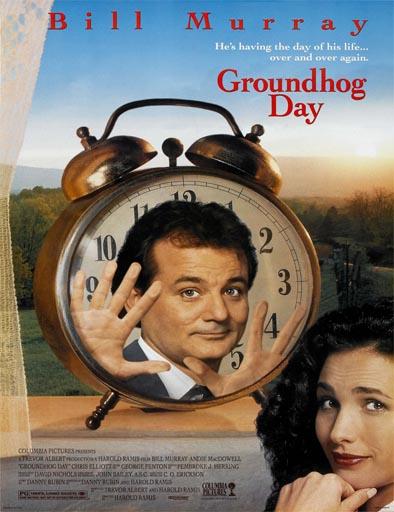 Poster de Groundhog Day (Hechizo del tiempo)