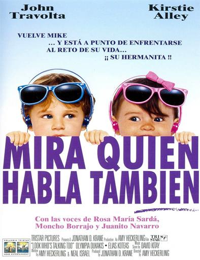 Poster de Mira quién habla también