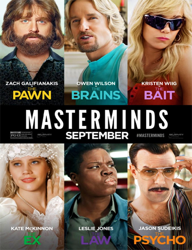Masterminds (De-mentes criminales) (2016) online