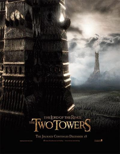 Poster de El señor de los anillos 2: Las dos torres