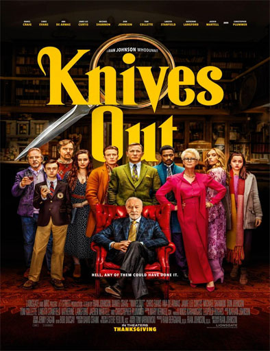Poster de Knives Out (Entre navajas y secretos)